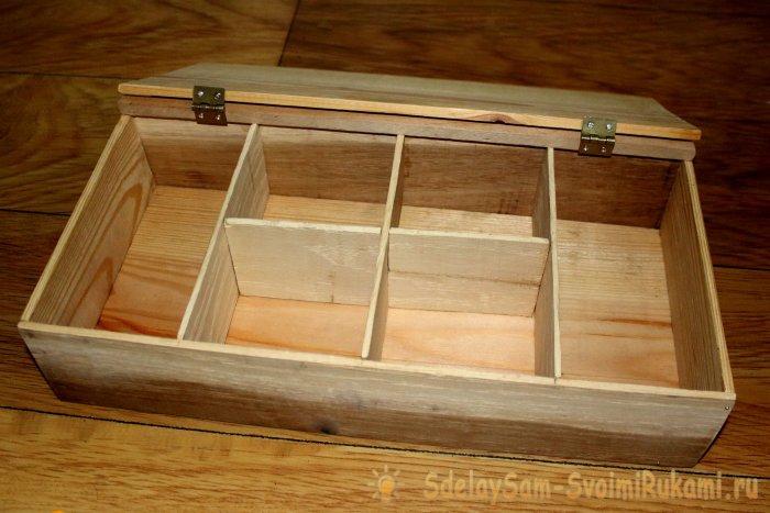 Мастер-класс: деревянная шкатулка своими руками
