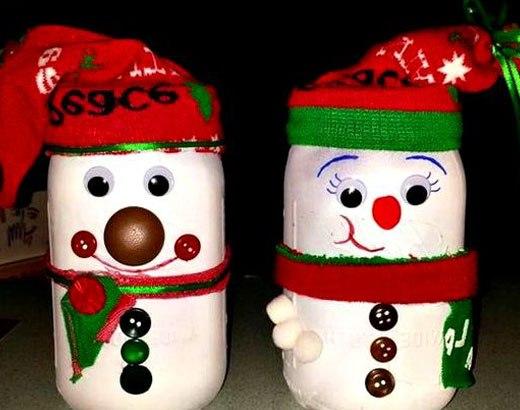 снеговики рождество