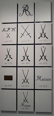 Логотипы фарфора Meissen