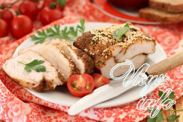 Сочное куриное филе для бутербродов