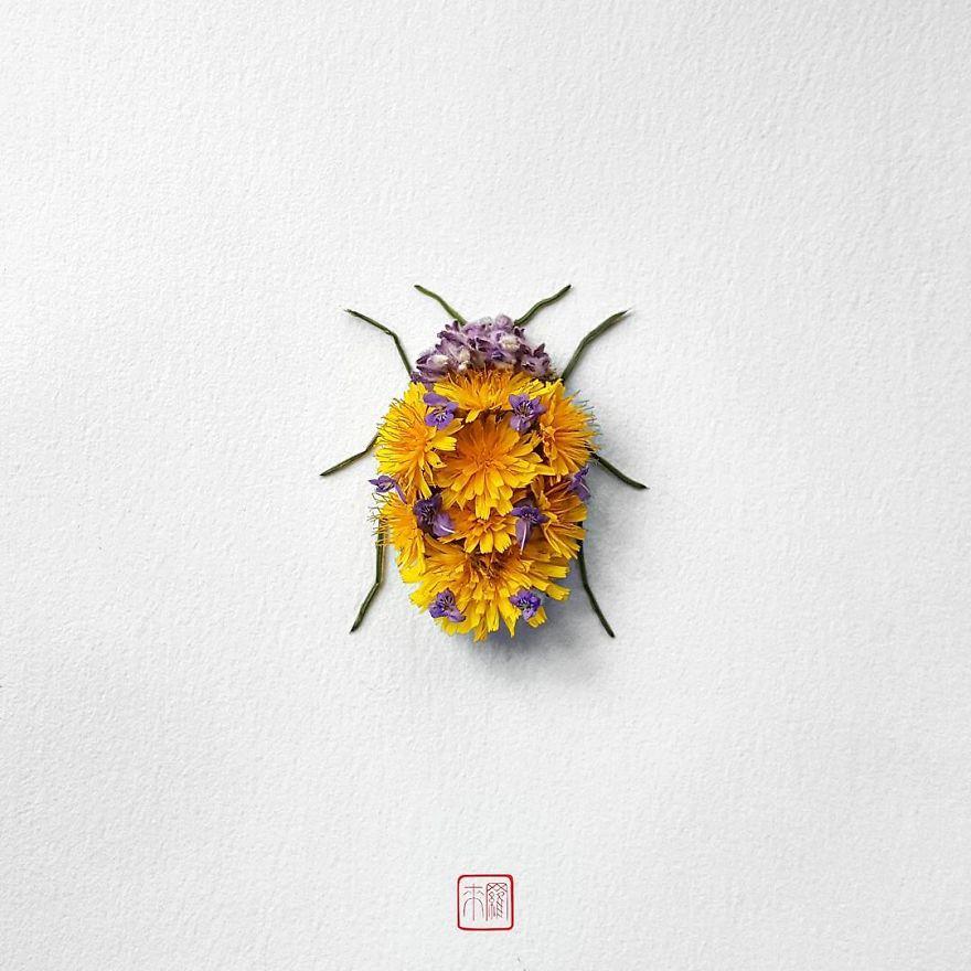 Насекомые из цветов
