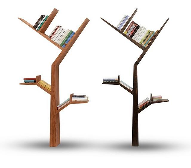 Книжные полочки из дерева
