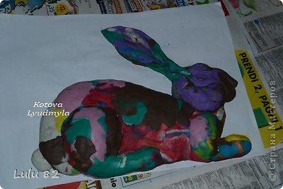 Скоро Пасха, во многих странах символом этого праздника является пасхальный заяц. Вот я и решила его сделать. . Фото 5