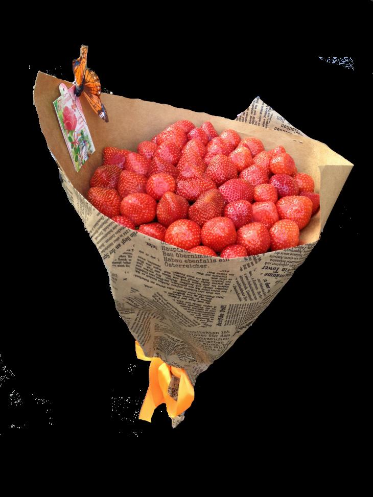 Фруктовые букеты из клубники