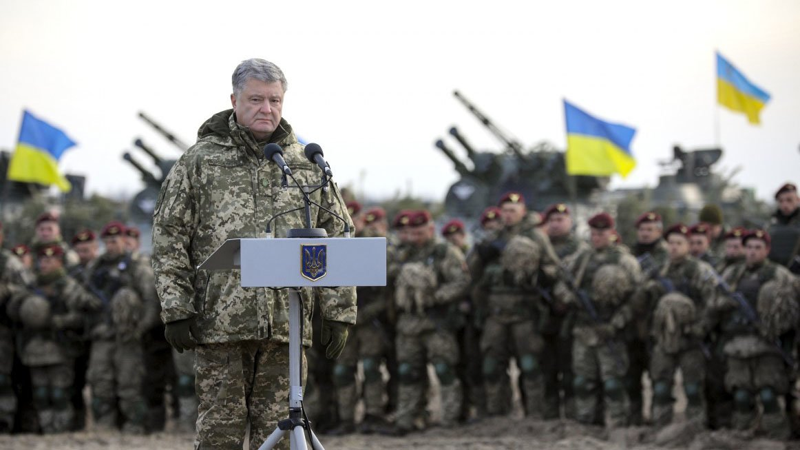 Порошенко собирает украинские войска у границ РФ
