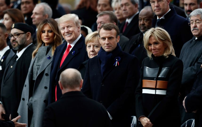 Меланья Трамп, Ангела Меркель и Брижит Макрон ярко отреагировали на появление Путина
