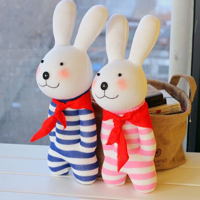 Как сделать игрушку зайца из носка своими руками
