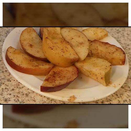 Фото к рецепту: Запечные яблоки в микроволновке