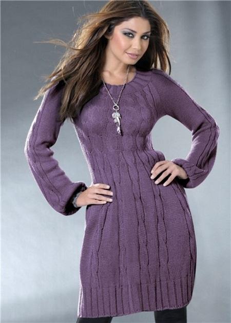 вязаное платье, с чем сочетать, как выбрать зимнее трикатоажное платье, фото образов