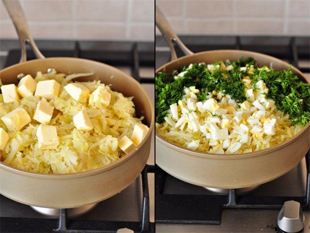 Начинка для пирожков капуста с яйцом рецепт
