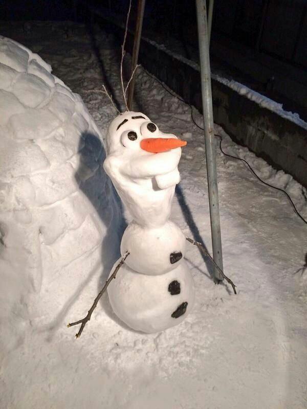 Снеговик из мультика