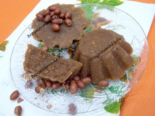 Арахисовая халва, рецепт приготовления в домашних условиях
