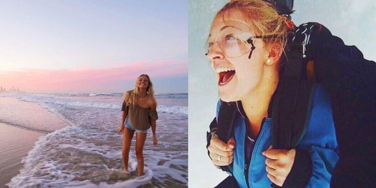 """""""Девушка, которая упала с неба"""": 20-летняя австралийка выжила после неудачного прыжка с парашютом"""