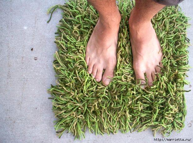 Клочок травы под ногами. КОВРИК КРЮЧКОМ (3) (620x460, 217Kb)