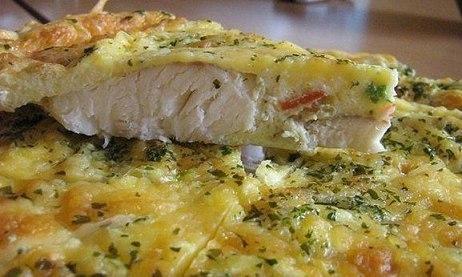 Рыба в яично-майонезной заливке