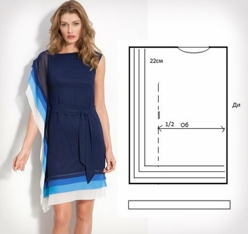 Как быстро сшить трикотажное платье своими руками