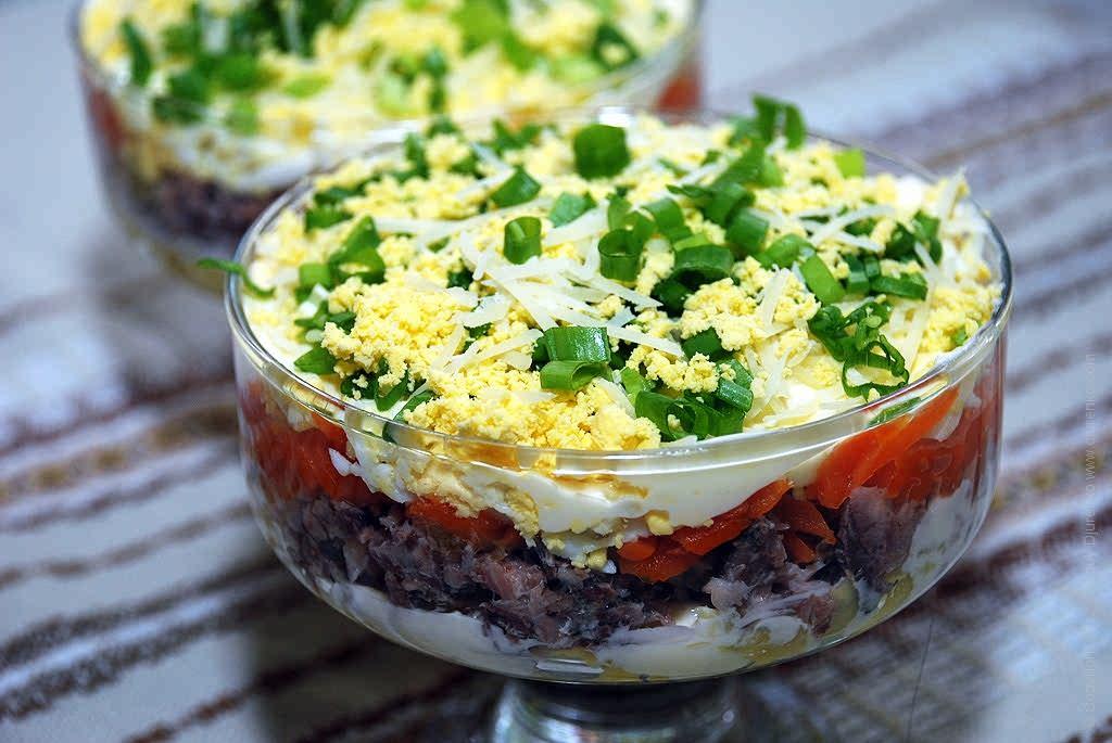 Салат из яиц и консервов: рецепты приготовления