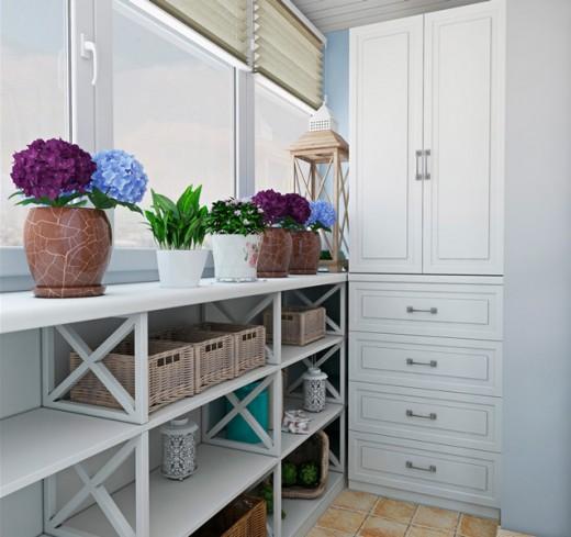 Идеи шкафчиков для балкона
