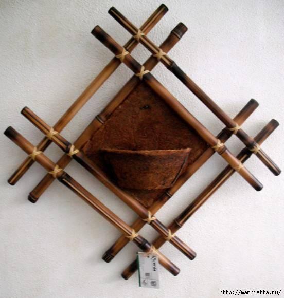Панно своими руками из бамбука