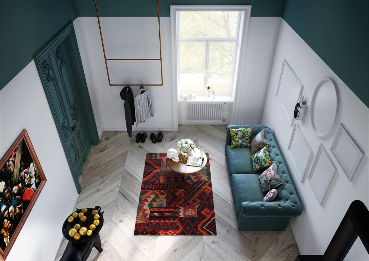 Это стоит увидеть: сумасшедшая квартира с зелёной спальней