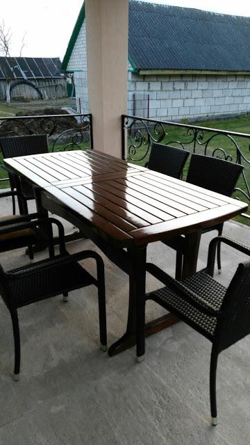 Раздвижной стол на террасу