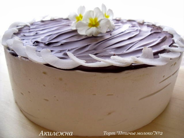 Торт птичье молоко с агаром рецепт