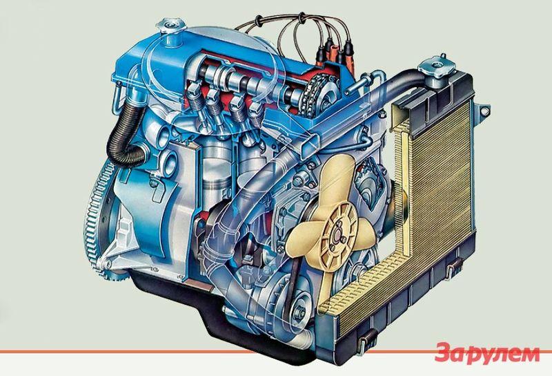 Мотор ВАЗ-2101 заметно отличался от фиатовского и довольно долго считался надежным и неприхотливым.
