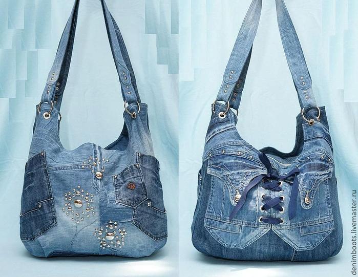 Красивые сумки из джинсы