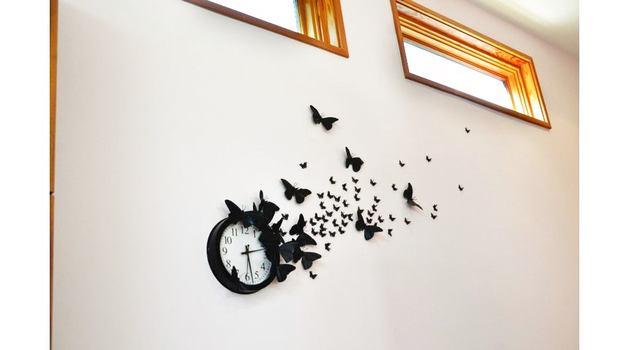 Эффект чёрной бабочки: декор часов своими руками. МК