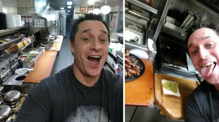 В США клиент сам приготовил еду в ресторане, пока повар спал