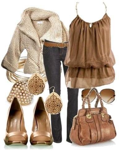 Модное сочетание женской одежды