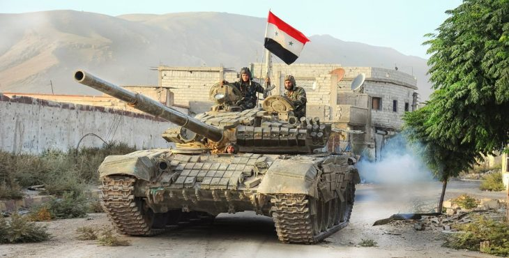 Армия Сирии прорвала линию обороны в пригороде Дамаска (Видео)