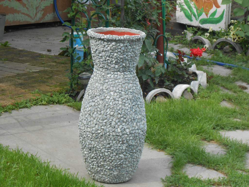 Садовая ваза своими руками мастер класс 55