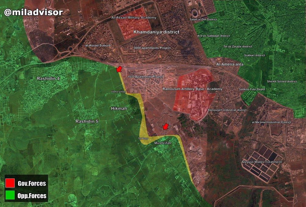 Началось контрнаступление сирийской армии под Алеппо.