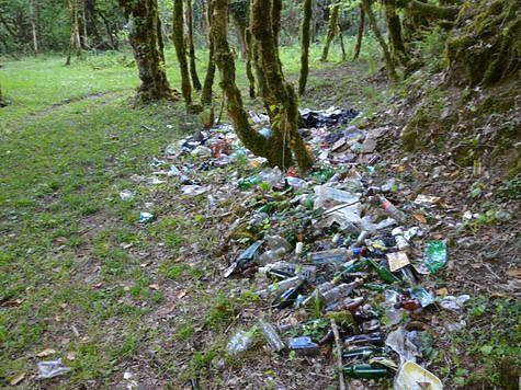 Количество мусора на водоемах зависит от каждого из нас
