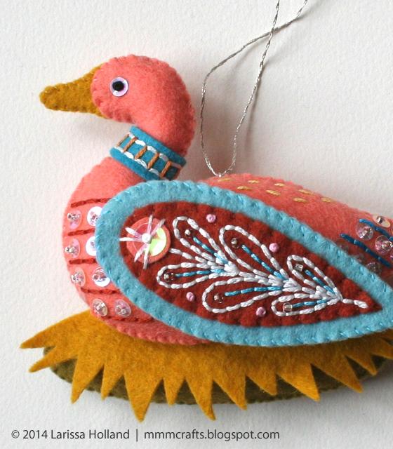 Райские птицы из фетра. Идеи (4) (560x640, 669Kb)