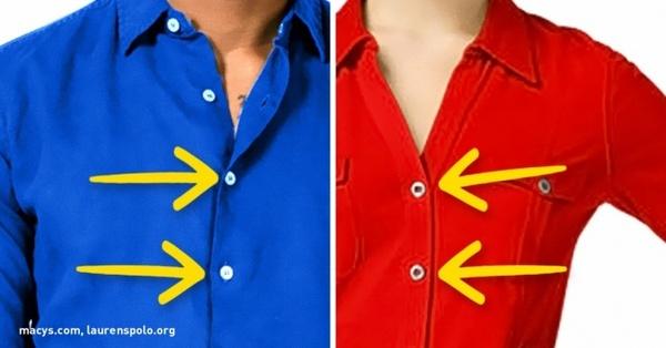 Знаете ли вы, почему пуговицы на мужских и женских рубашках на разных сторонах?