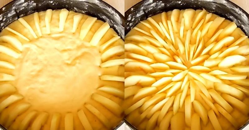 корнуэльский яблочный пирог с корицей