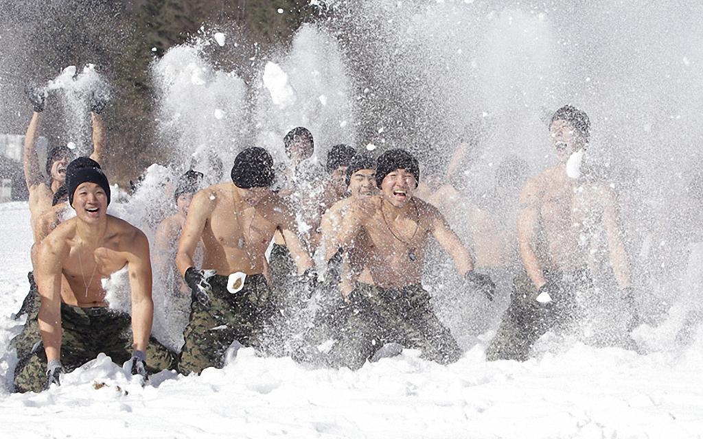 Зимние учения южнокорейского спецназа-1