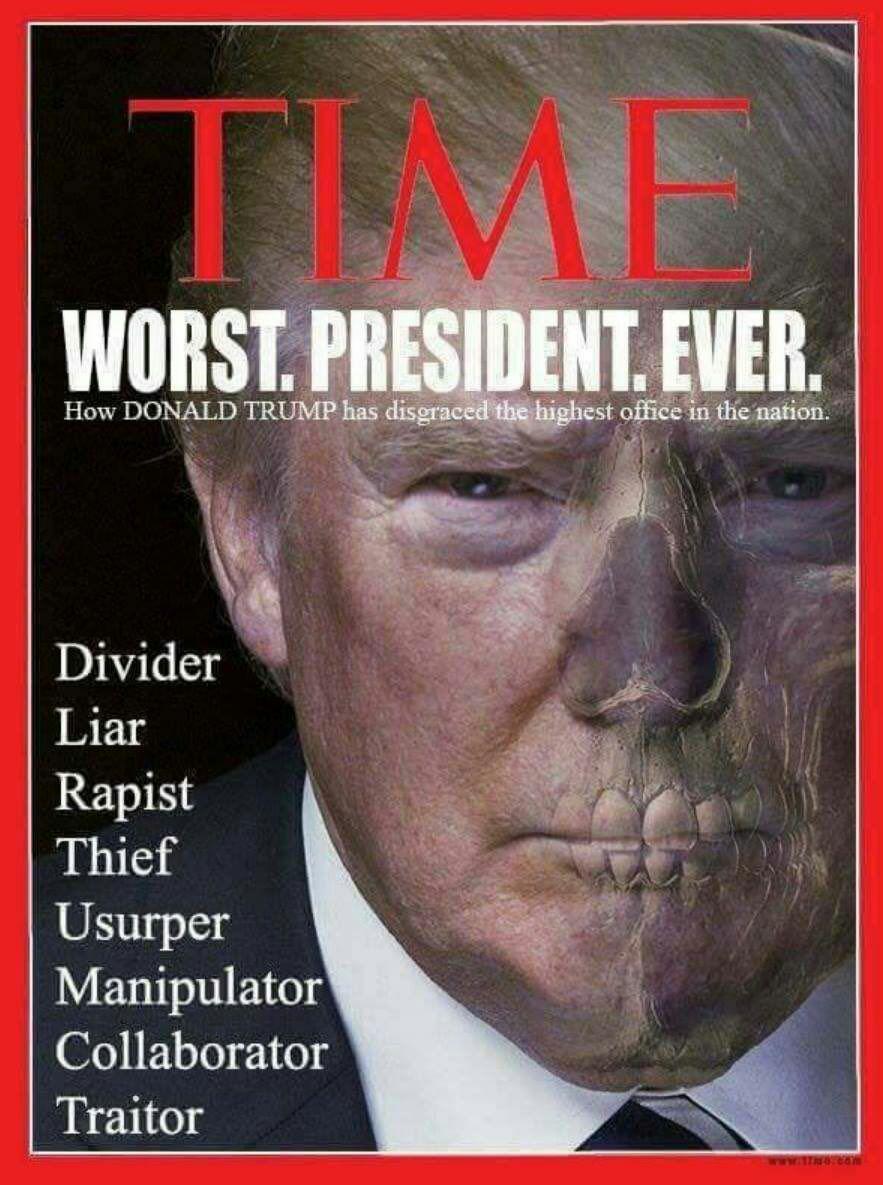 Президент Трамп на обложке последнего журнала TIME.