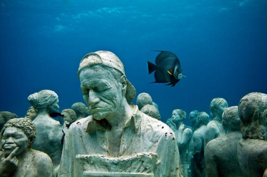 музей, Канкун, под водой