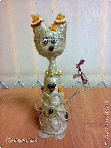 Кофейные коты из шпагата 137
