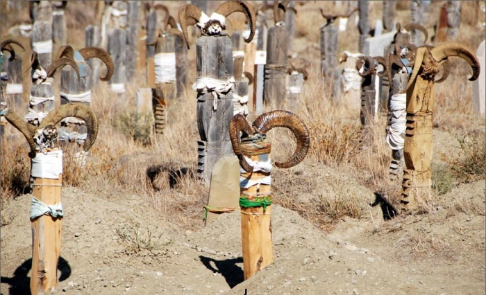 Кладбище с рогами. /Фото:fergana.info