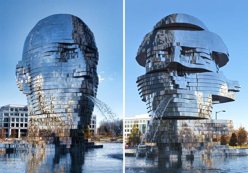 """""""Метаморфозы"""", Шарлотт, США город, достопримечательность, интересное, мир, подборка, страна, фонтан, фото"""