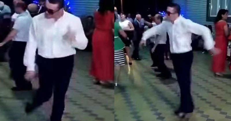 Он вышел на танцпол и стал настоящей звездой на вечеринке. Вот это зажег!