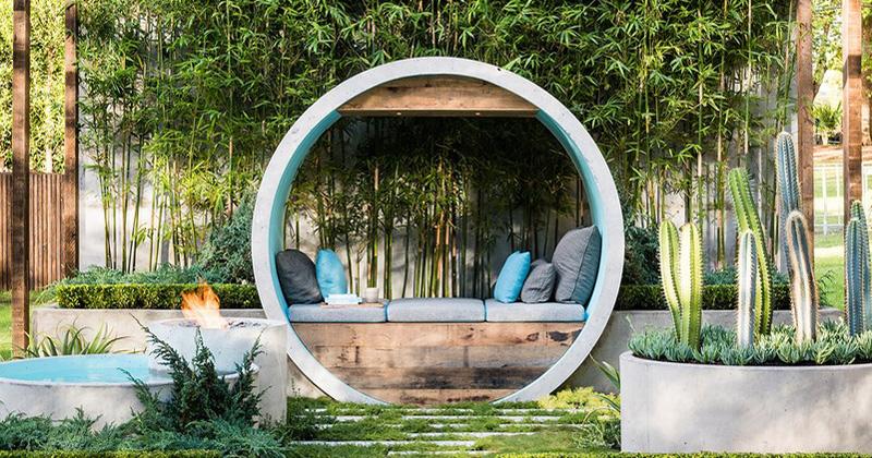 Интересная идея дизайна места для уединенного отдыха