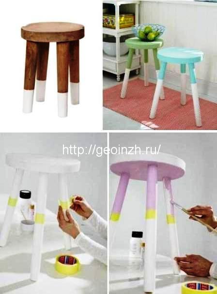 10 способов обновить старую мебель своими руками