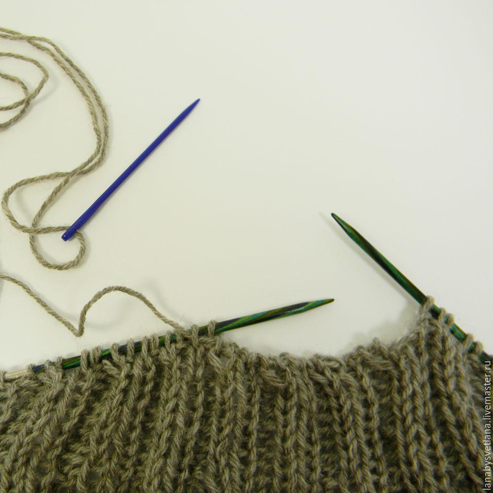 связать свитер без швов