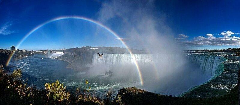 Ниагарский водопад (Канада, США) лучше наблюдать с канадской стороны. достопримечательности, интересное, фотографии