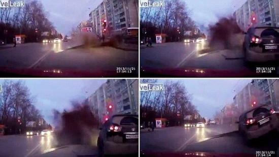 Взрыв дороги в Екатеринбурге